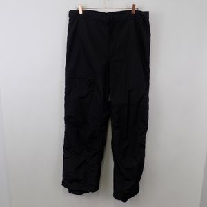 Columbia Men's Ski Pants XL Black Nylon Omni-Tech